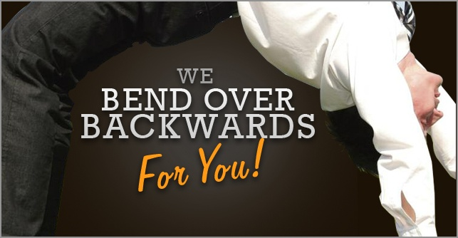 Bend Over Backwards